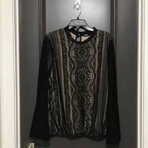 Liberty Love Black Lace Long sleeve too